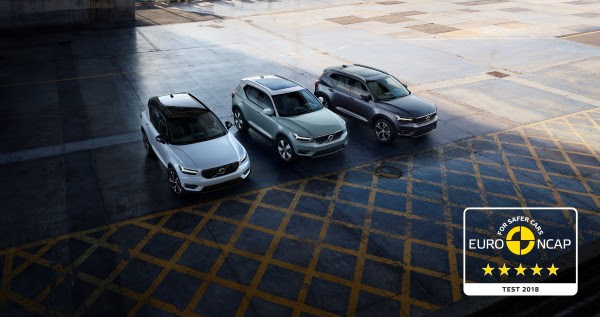 Volvo XC40scorer fem Euro NCAP stjerner