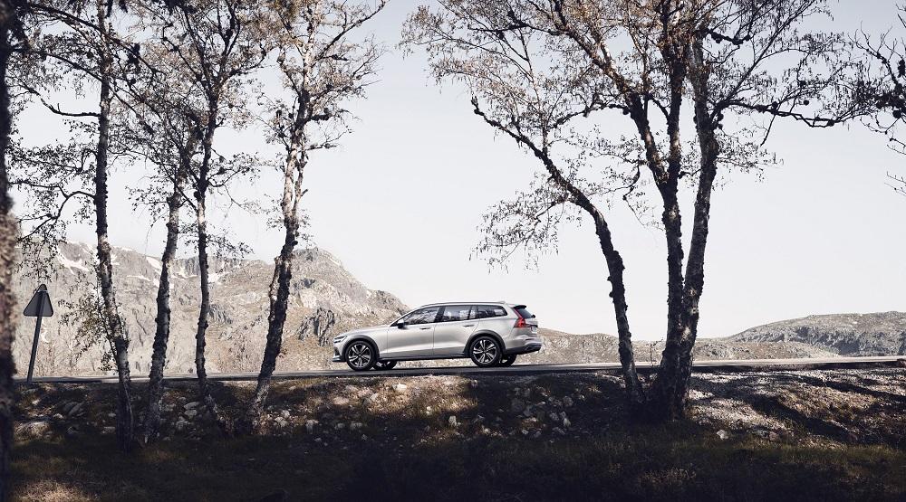 Sådan ser den ud- Klassisk Volvo-profil på V60 Cross Country.