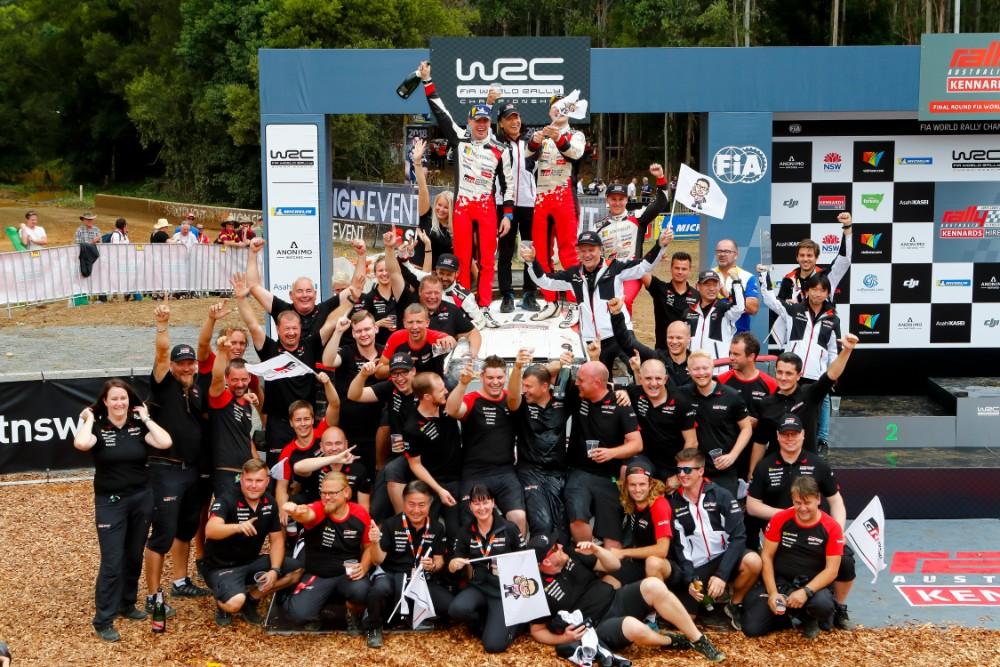Toyota er verdensmester i rally for konstruktører