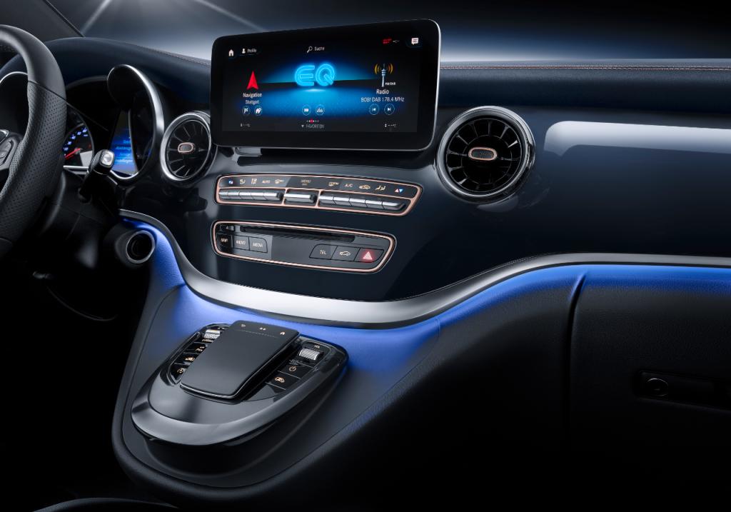 Lækker kabine i Mercedes-Benz Concept EQV